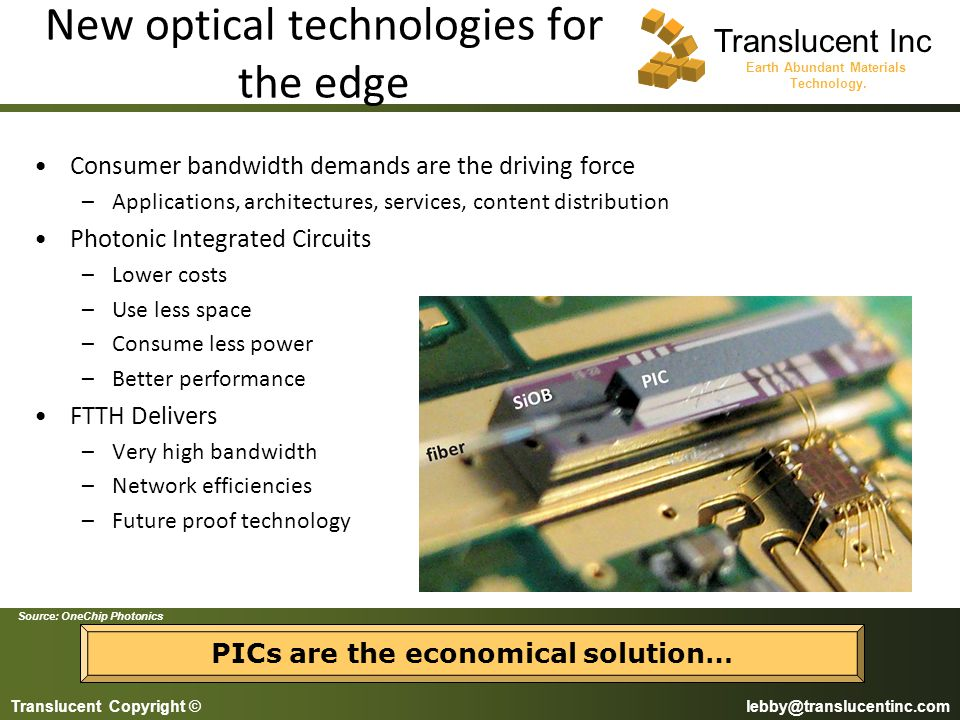 New optical technologies for the edge