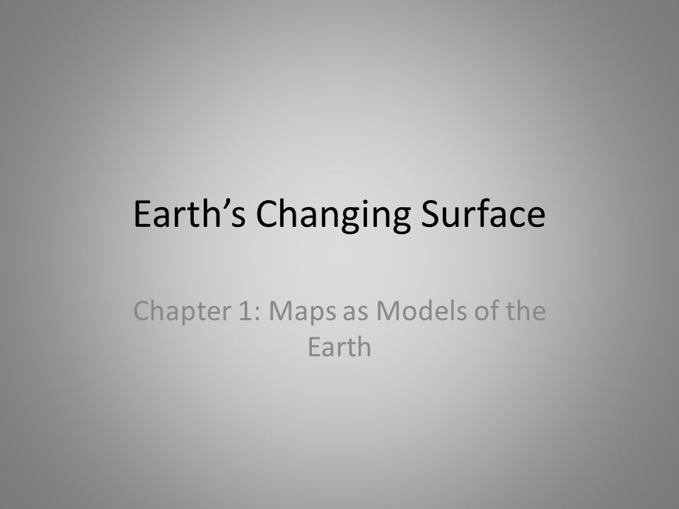Earth's Changing Surface