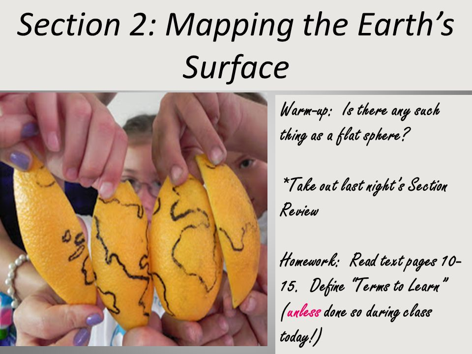 Section 2: Mapping the Earth's Surface