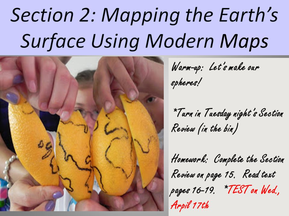 Section 2: Mapping the Earth's Surface Using Modern Maps