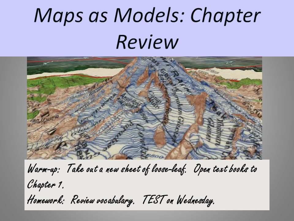 Maps as Models: Chapter Review