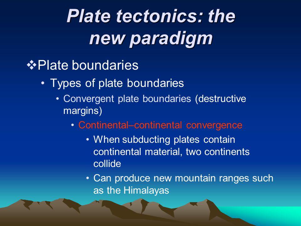 Plate tectonics: the new paradigm