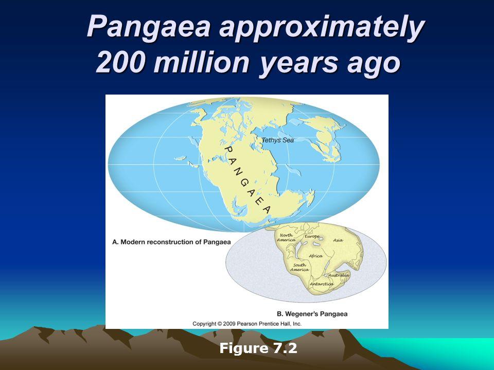 Pangaea approximately 200 million years ago