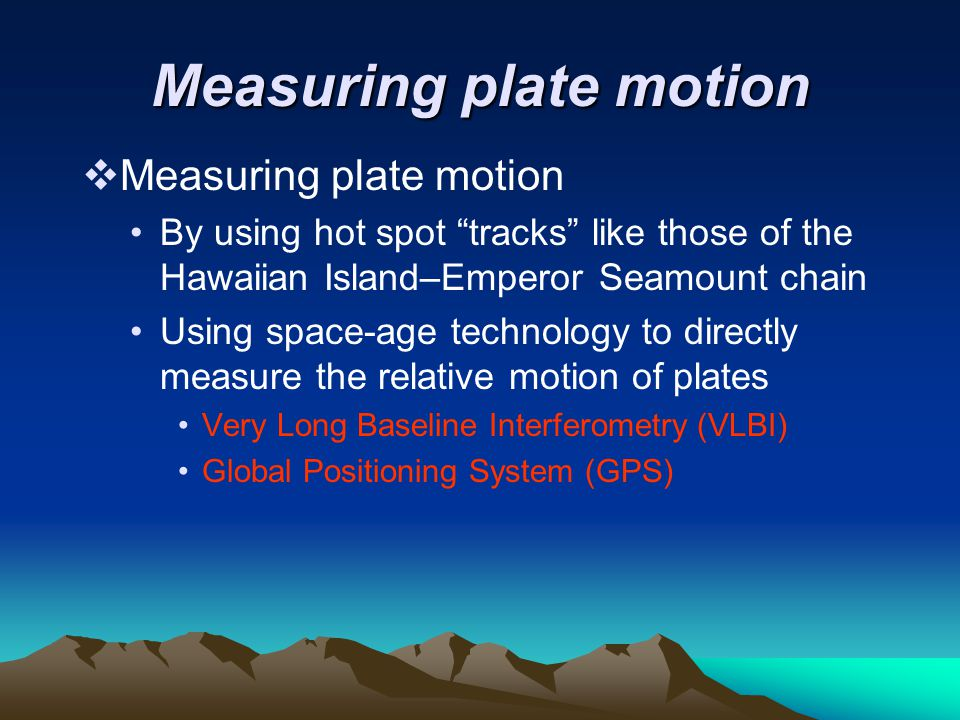 Measuring plate motion