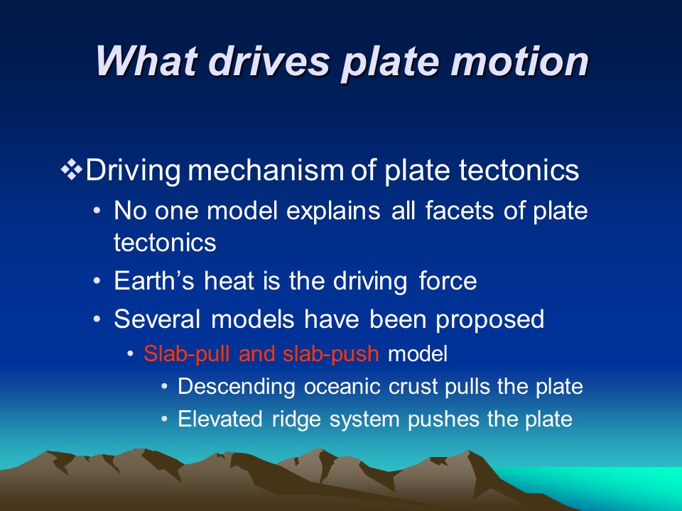 What drives plate motion