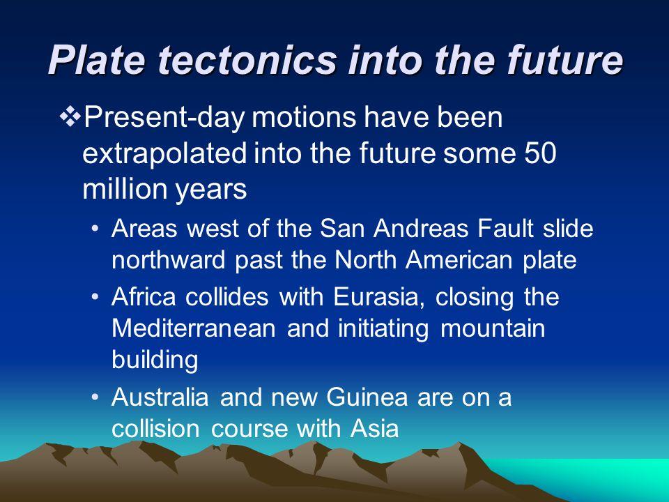 Plate tectonics into the future
