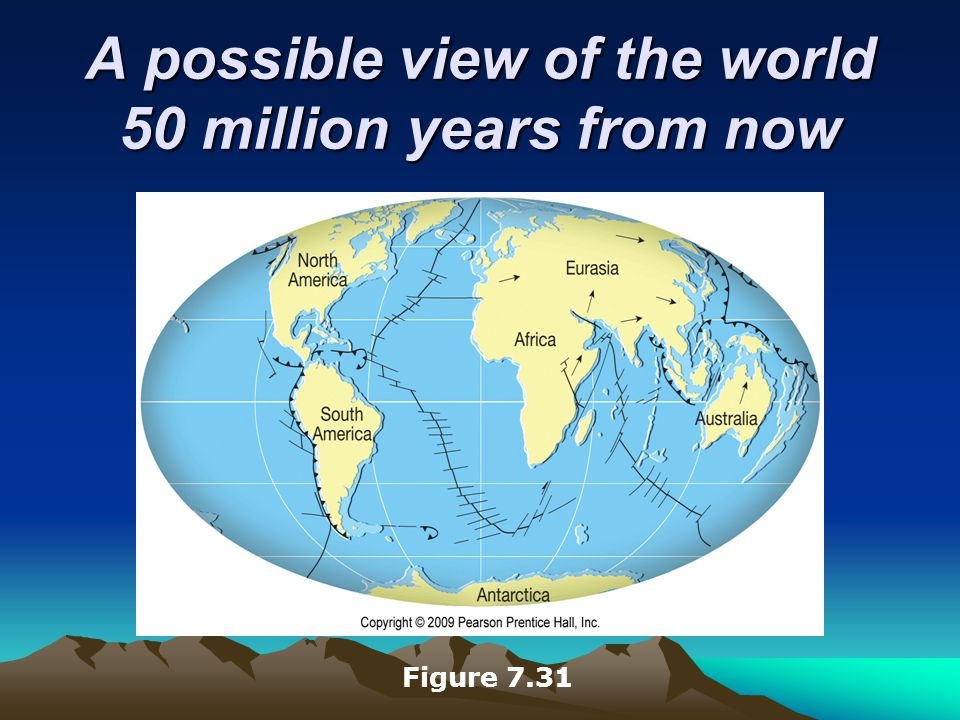 A possible view of the world 50 million years from now