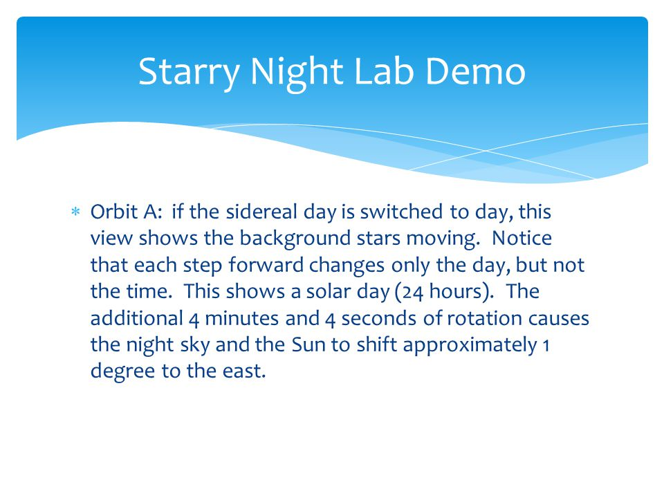Starry Night Lab Demo