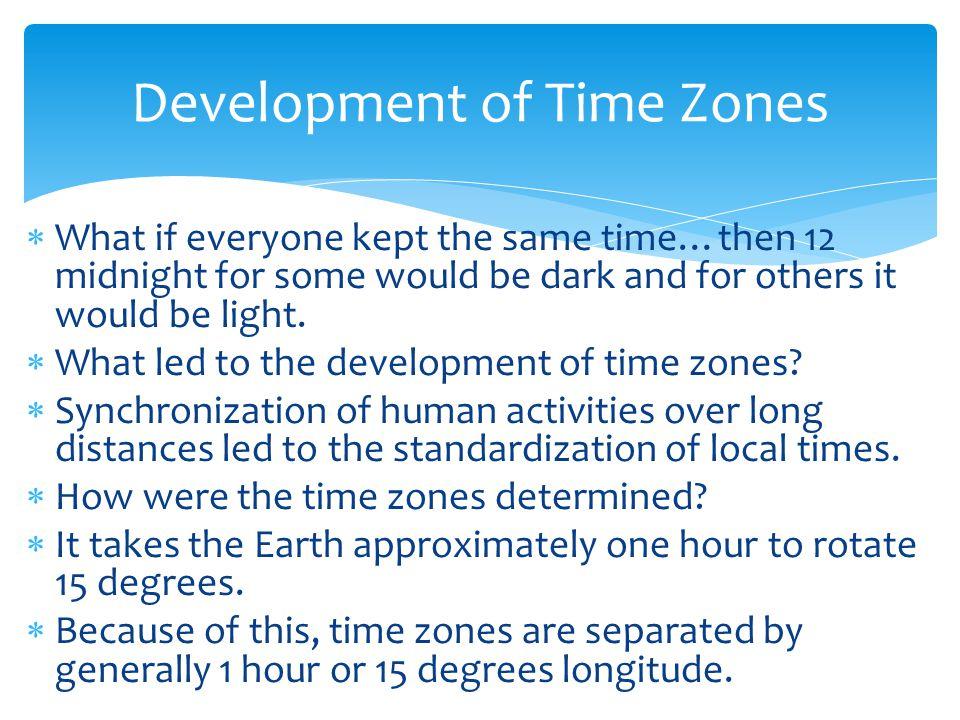 Development of Time Zones