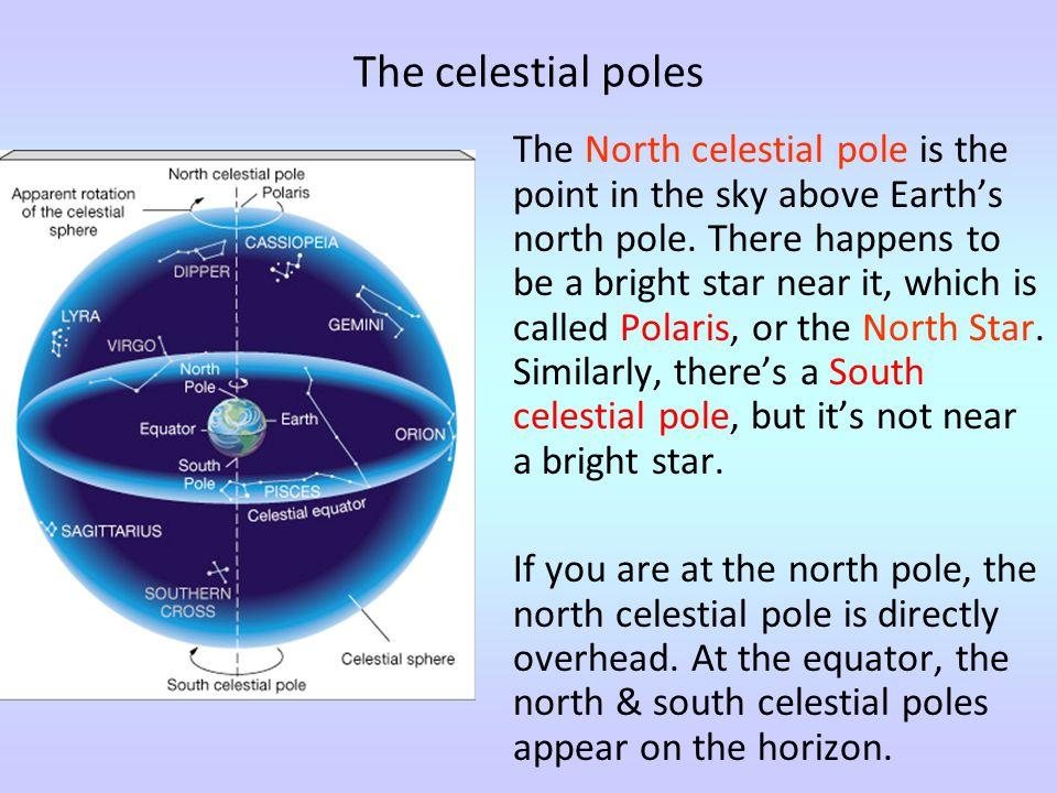 The celestial poles