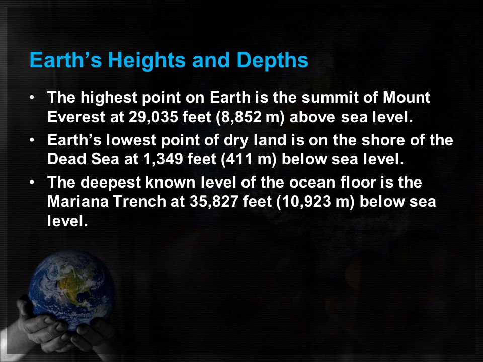 Earth's Heights and Depths