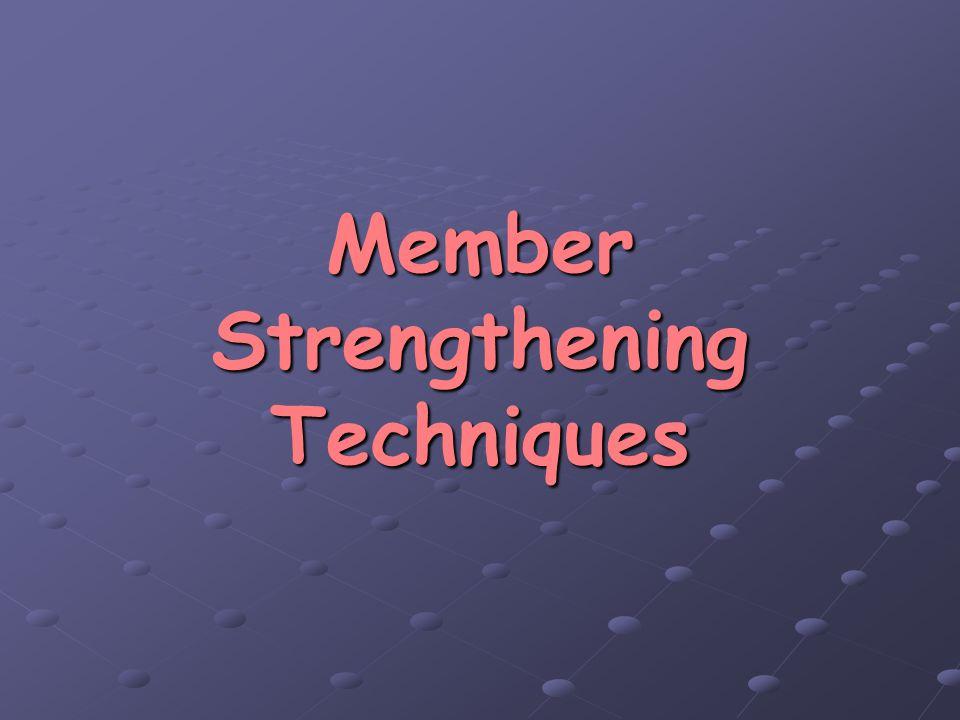 Member Strengthening Techniques
