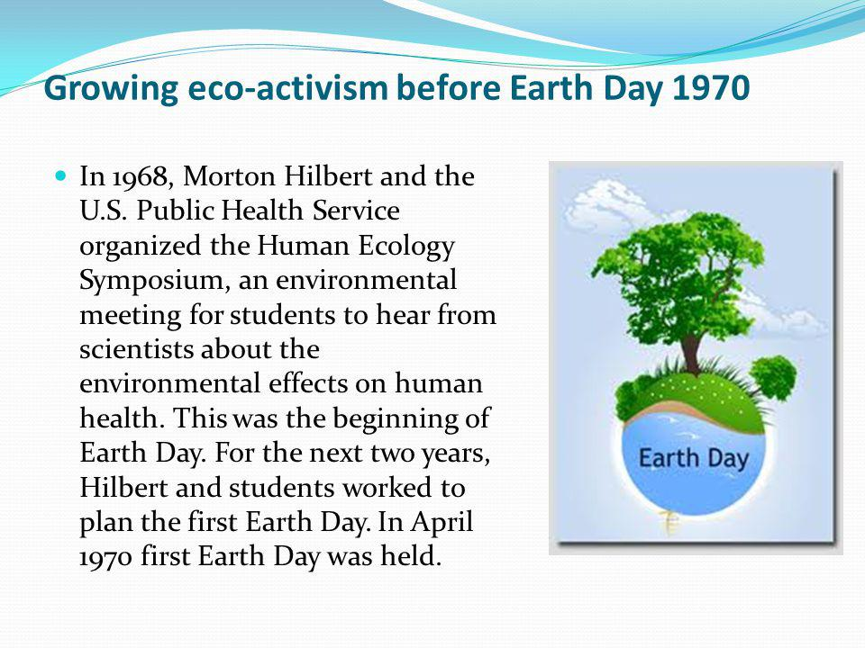 Growing eco-activism before Earth Day 1970