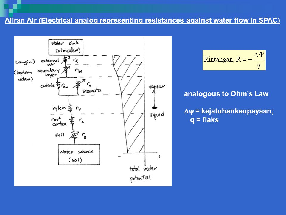 Aliran Air (Electrical analog representing resistances against water flow in SPAC)