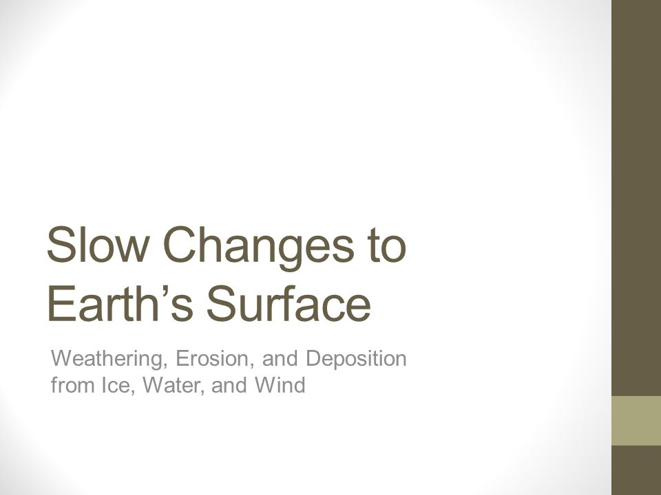 Slow Changes to Earth's Surface
