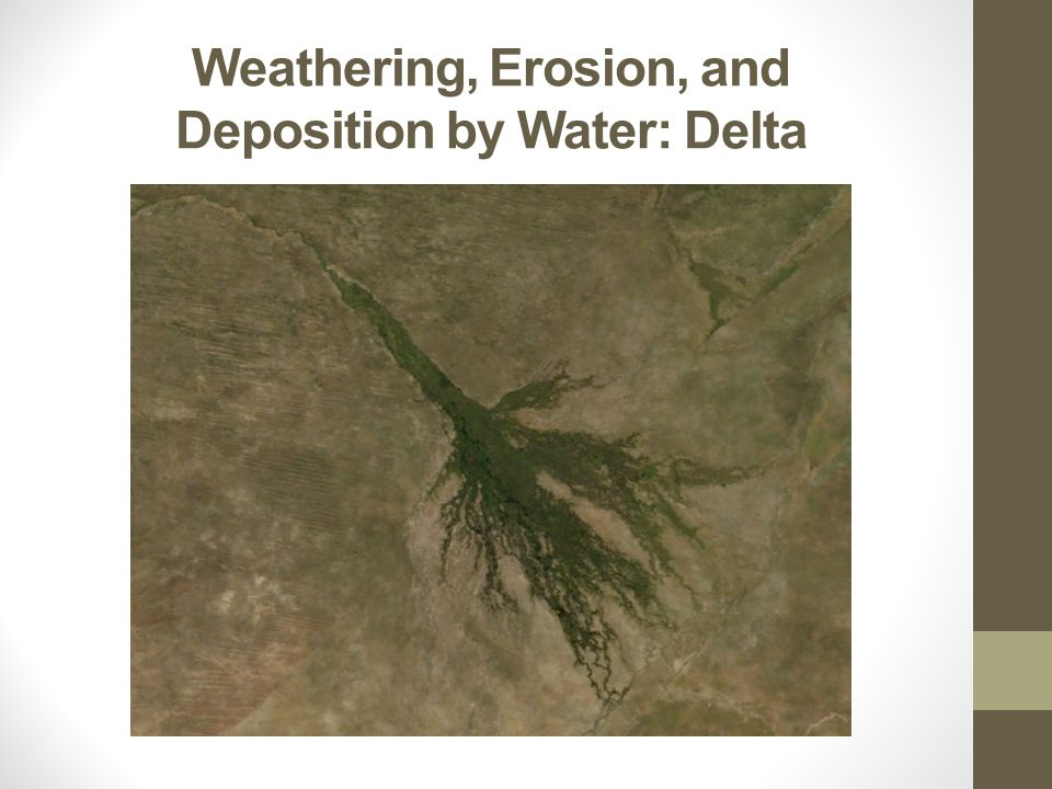 Weathering, Erosion, and Deposition by Water: Delta