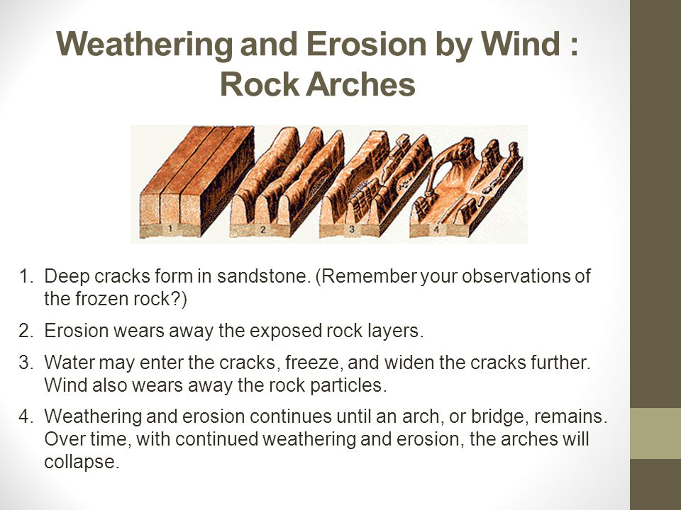 Weathering and Erosion by Wind : Rock Arches