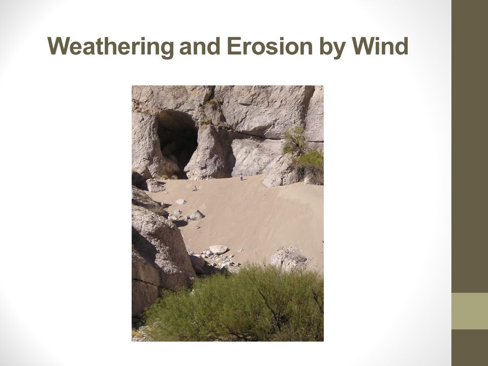 Weathering and Erosion by Wind