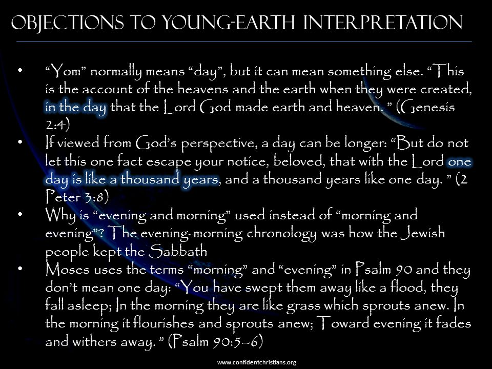 Objections to Young-Earth Interpretation