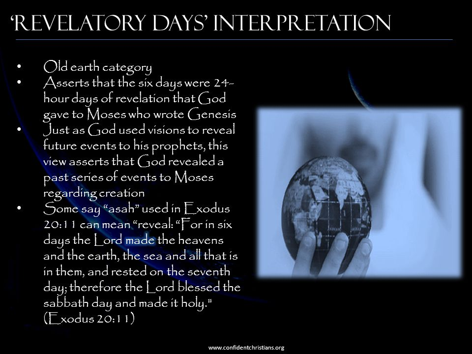 'Revelatory Days' Interpretation