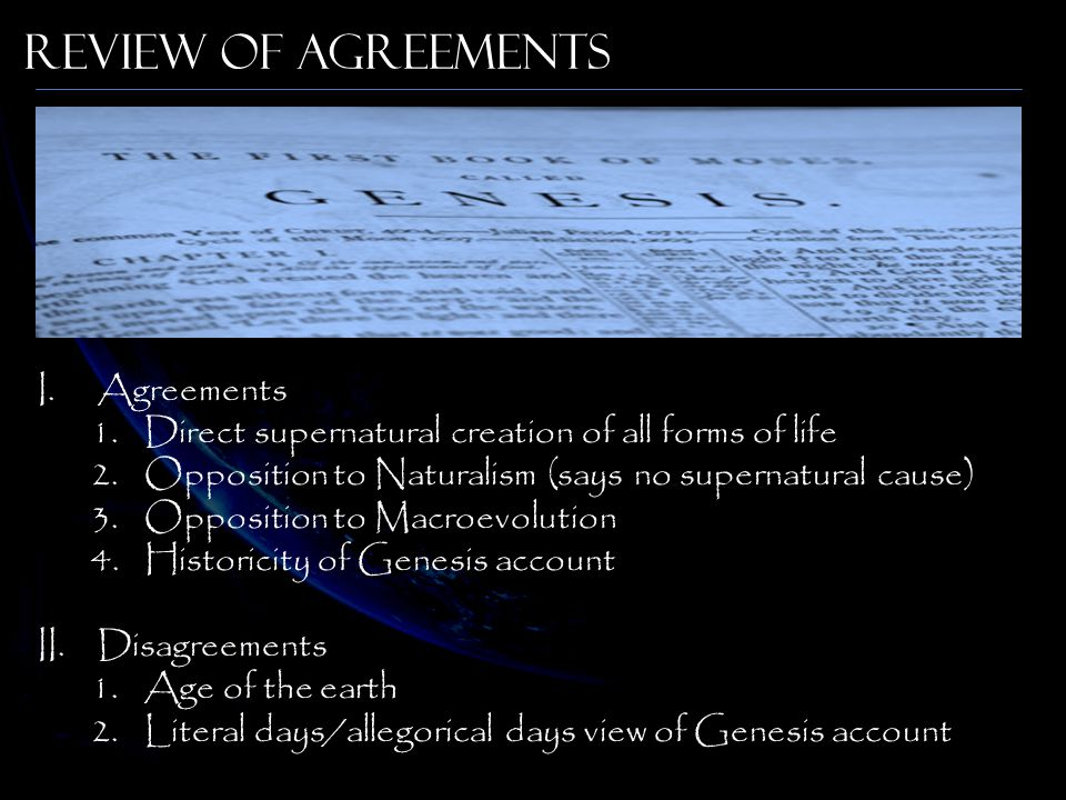 Review of Agreements Agreements