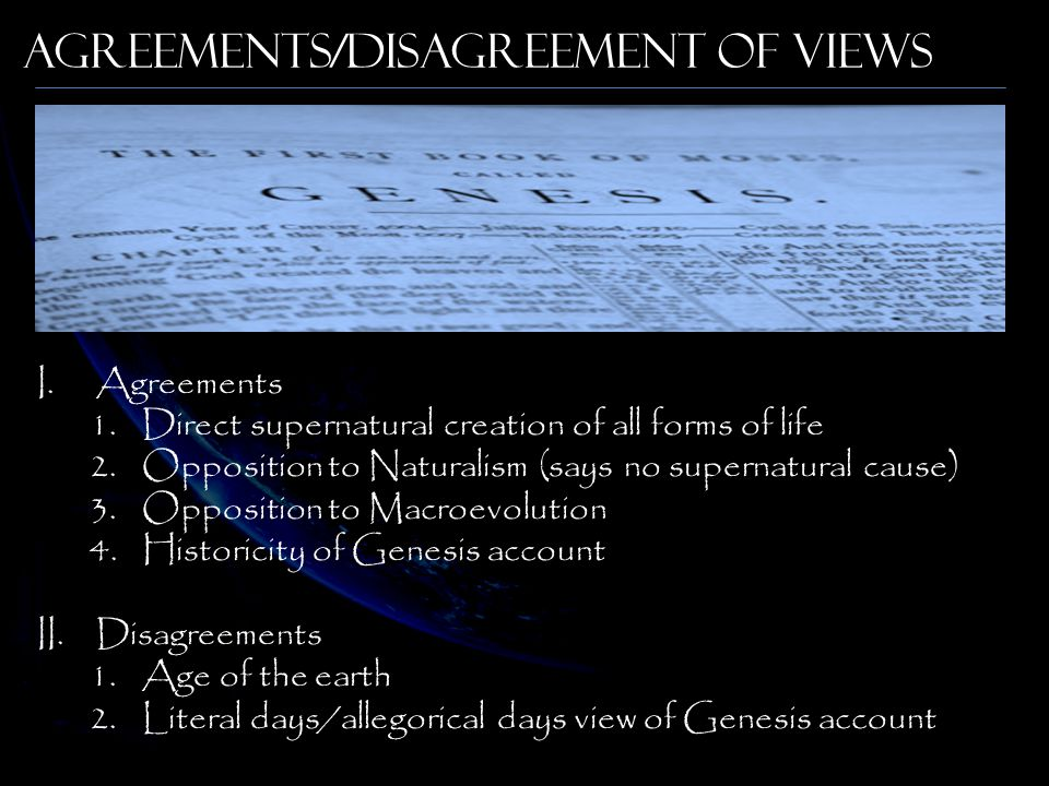 Agreements/Disagreement of Views
