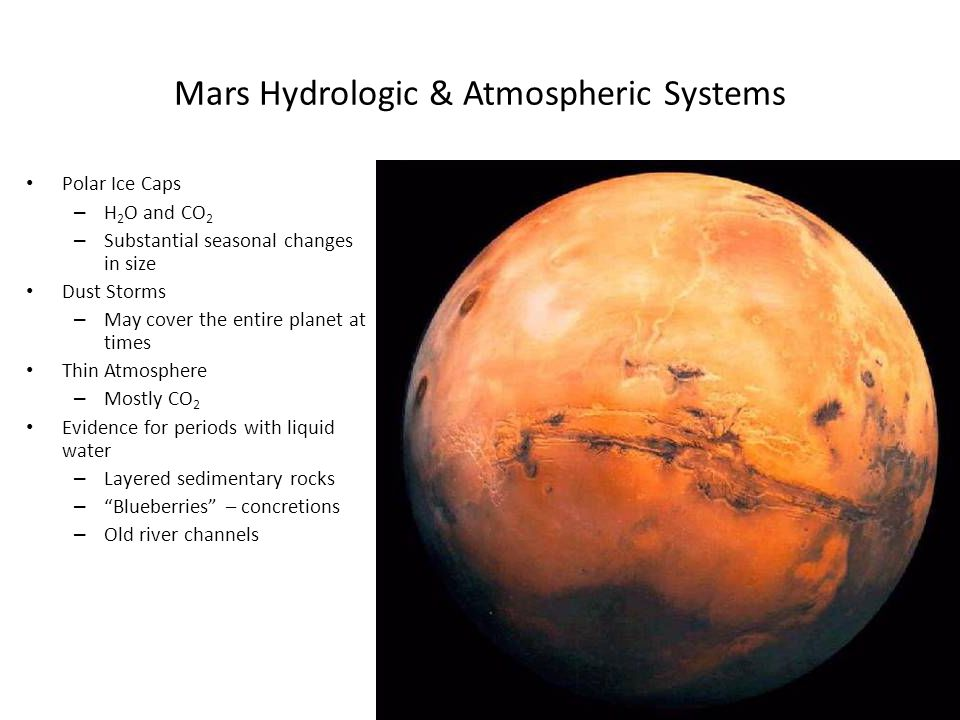 Mars Hydrologic & Atmospheric Systems