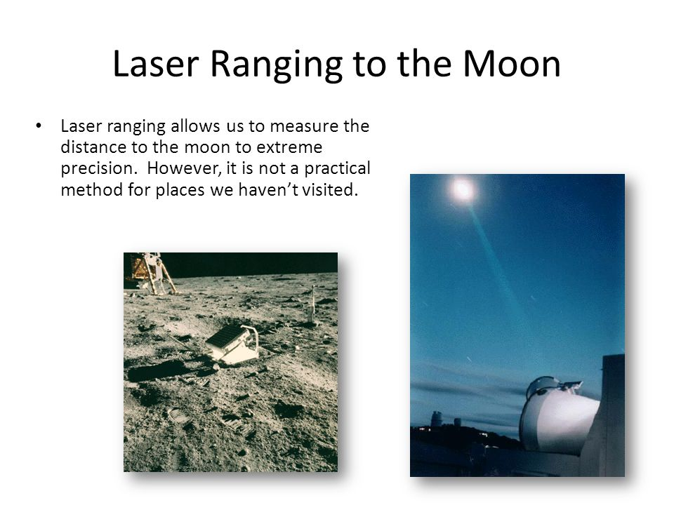 Laser Ranging to the Moon