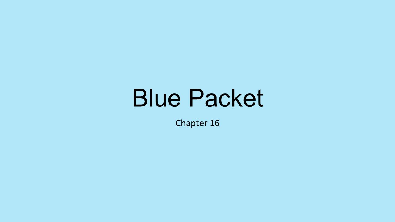 Blue Packet Chapter 16