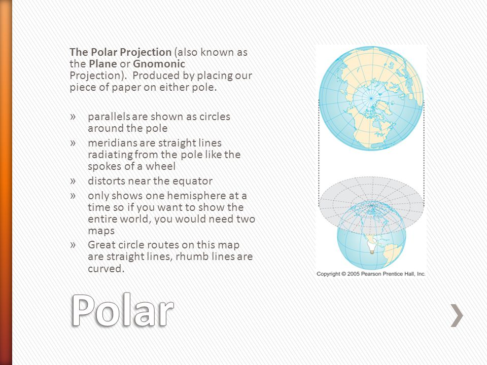 The Polar Projection (also known as the Plane or Gnomonic Projection)