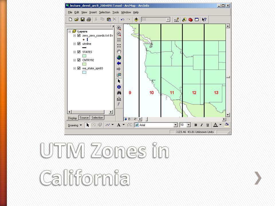 UTM Zones in California