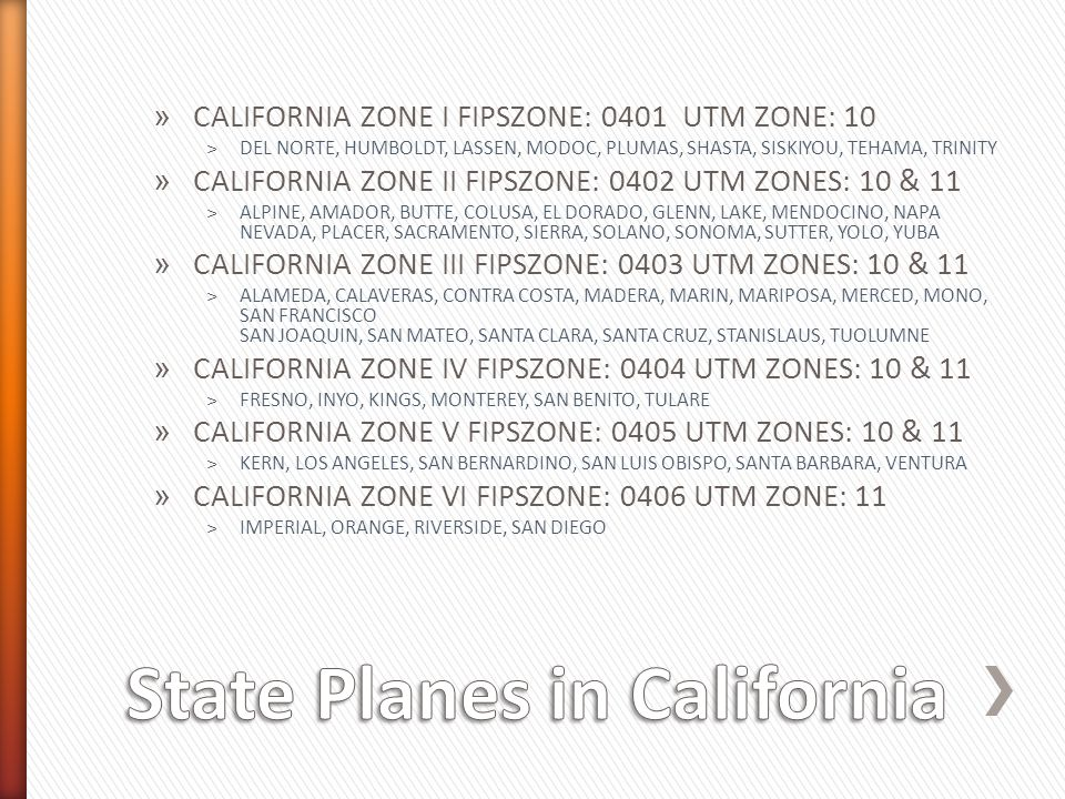 State Planes in California