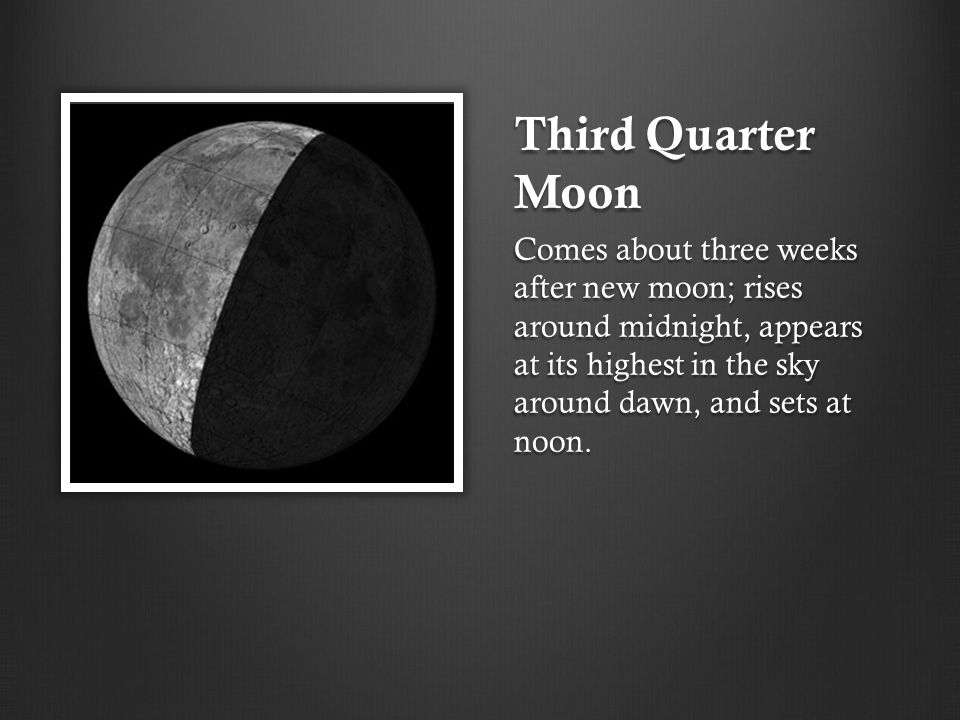 Third Quarter Moon