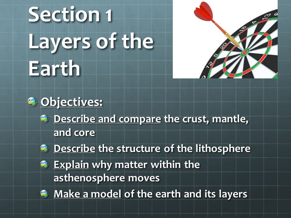 Section 1 Layers of the Earth