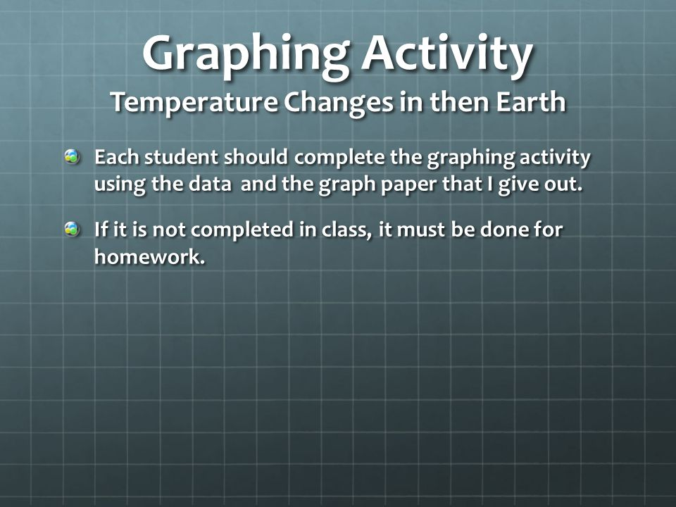 Graphing Activity Temperature Changes in then Earth