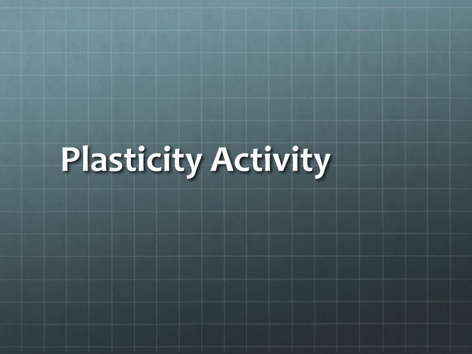 Plasticity Activity