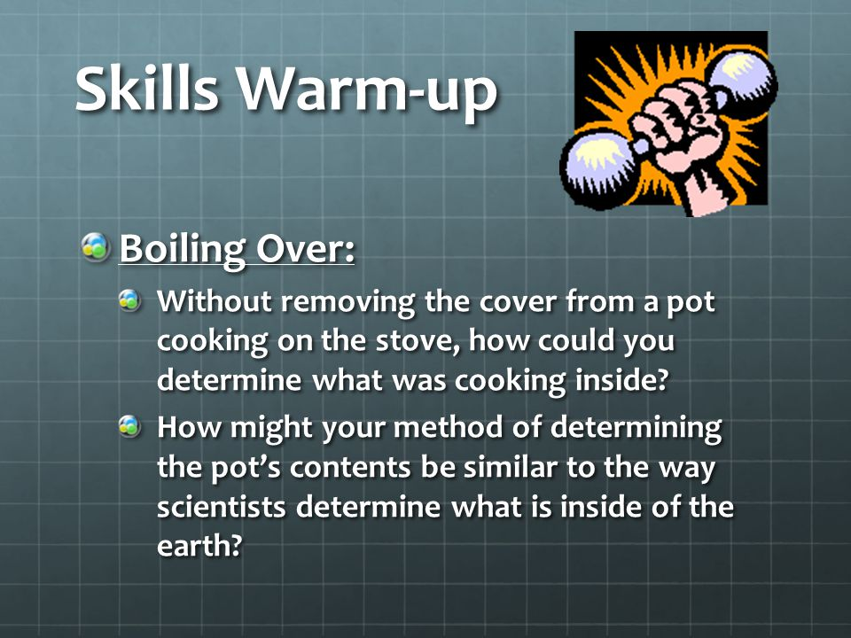 Skills Warm-up Boiling Over: