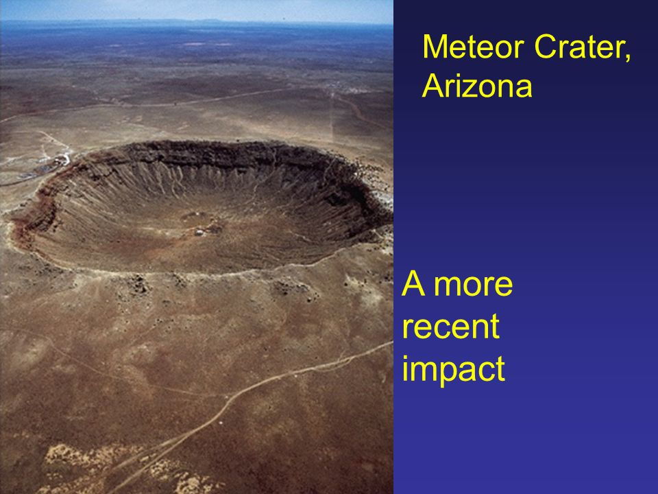 Meteor Crater, Arizona A more recent impact