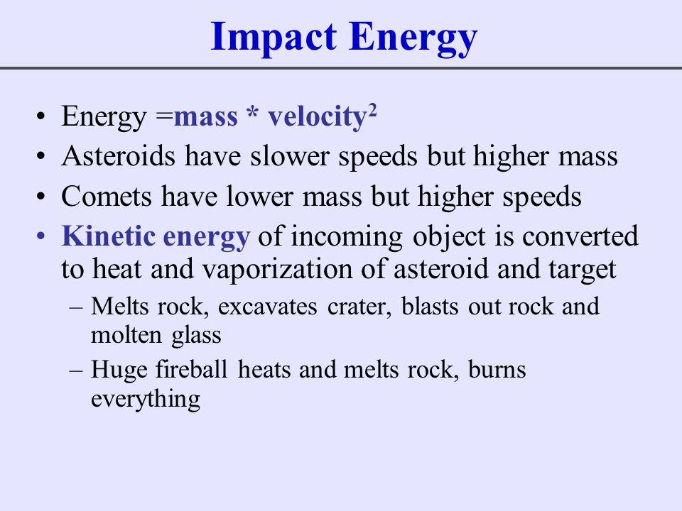 Impact Energy Energy =mass * velocity2