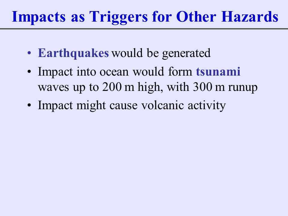 Impacts as Triggers for Other Hazards