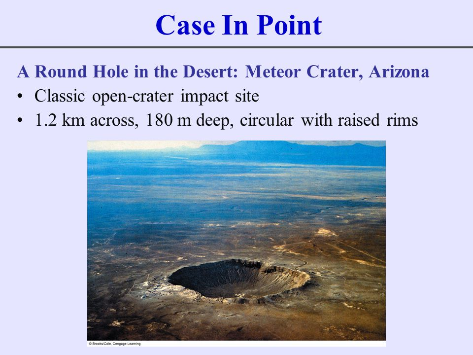 Case In Point A Round Hole in the Desert: Meteor Crater, Arizona
