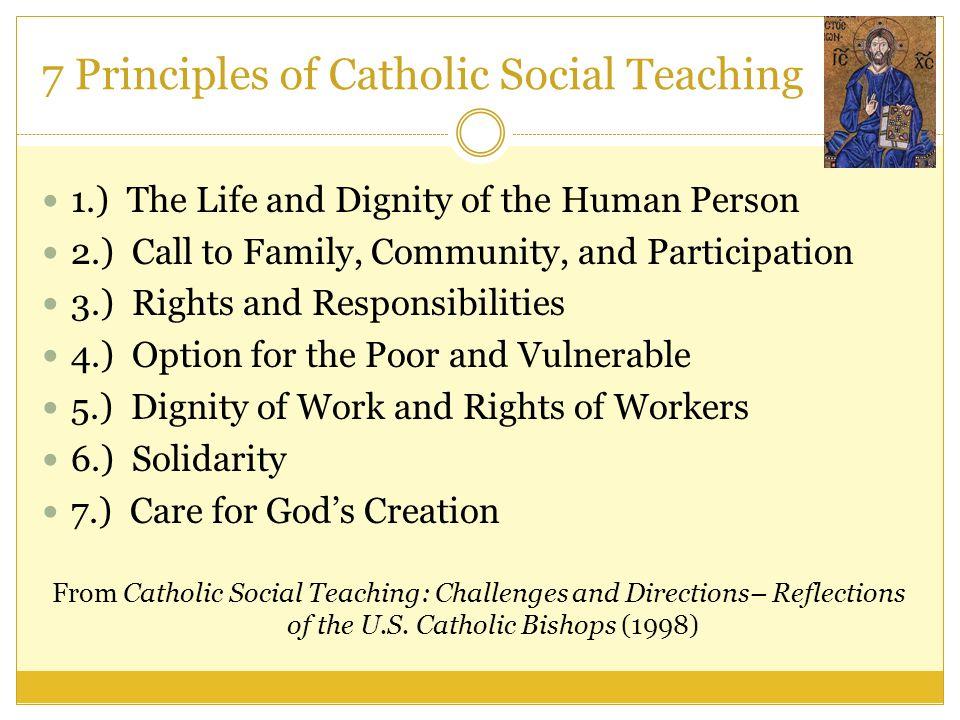 7 Principles of Catholic Social Teaching