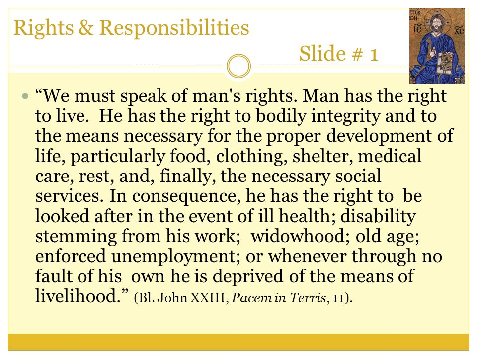 Rights & Responsibilities Slide # 1