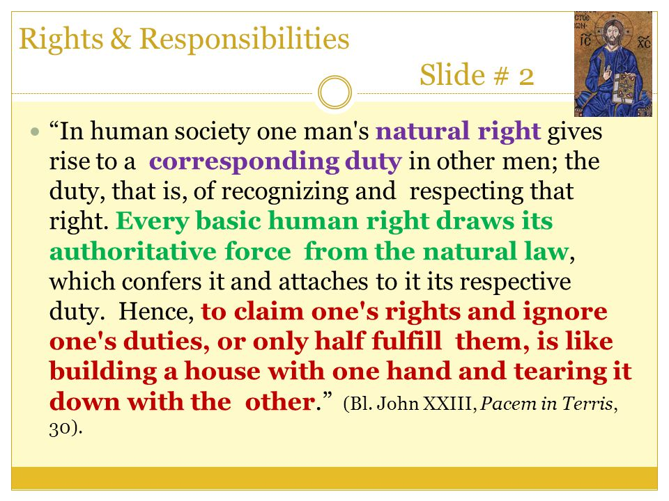 Rights & Responsibilities Slide # 2