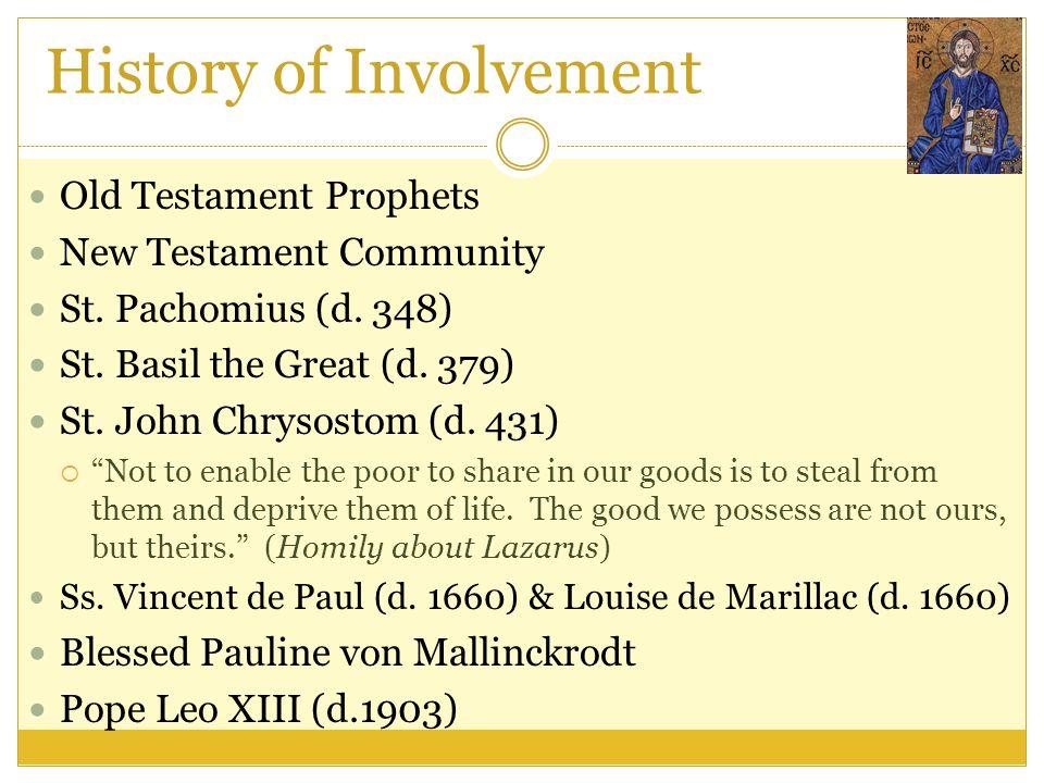 History of Involvement