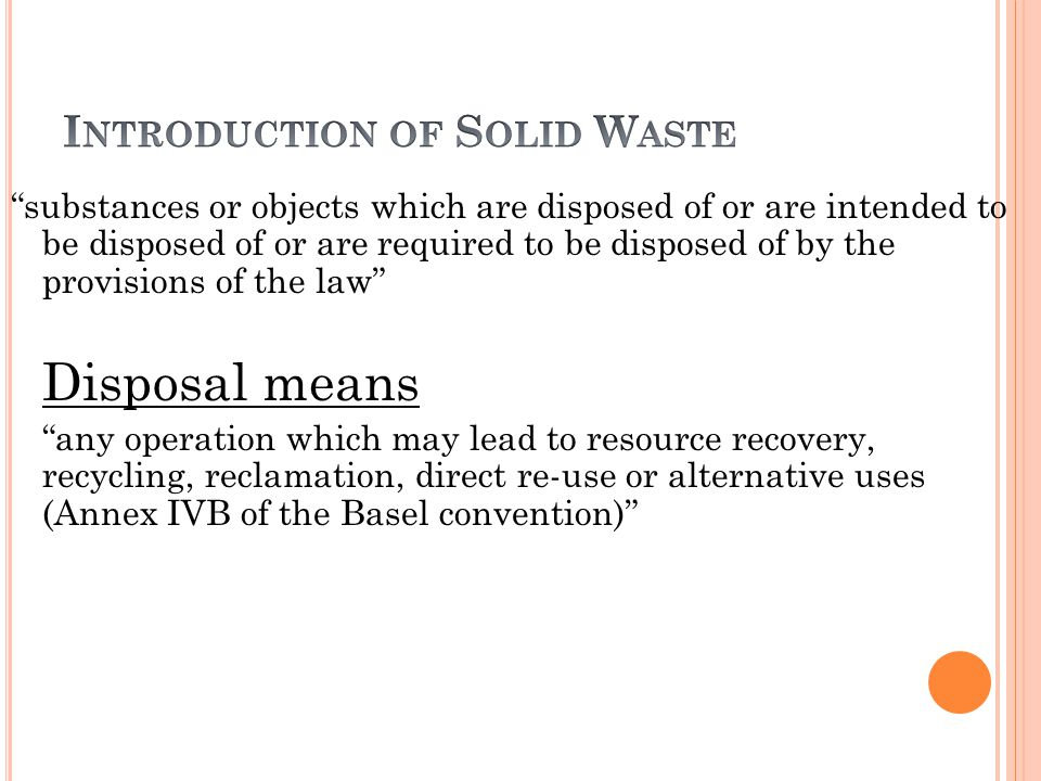 Introduction of Solid Waste