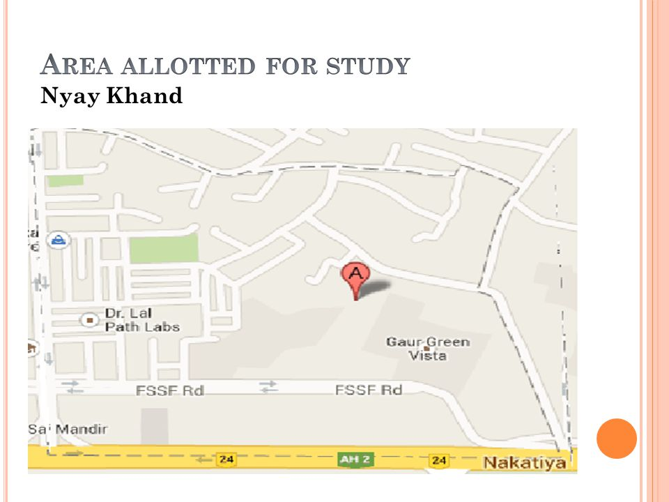Area allotted for study