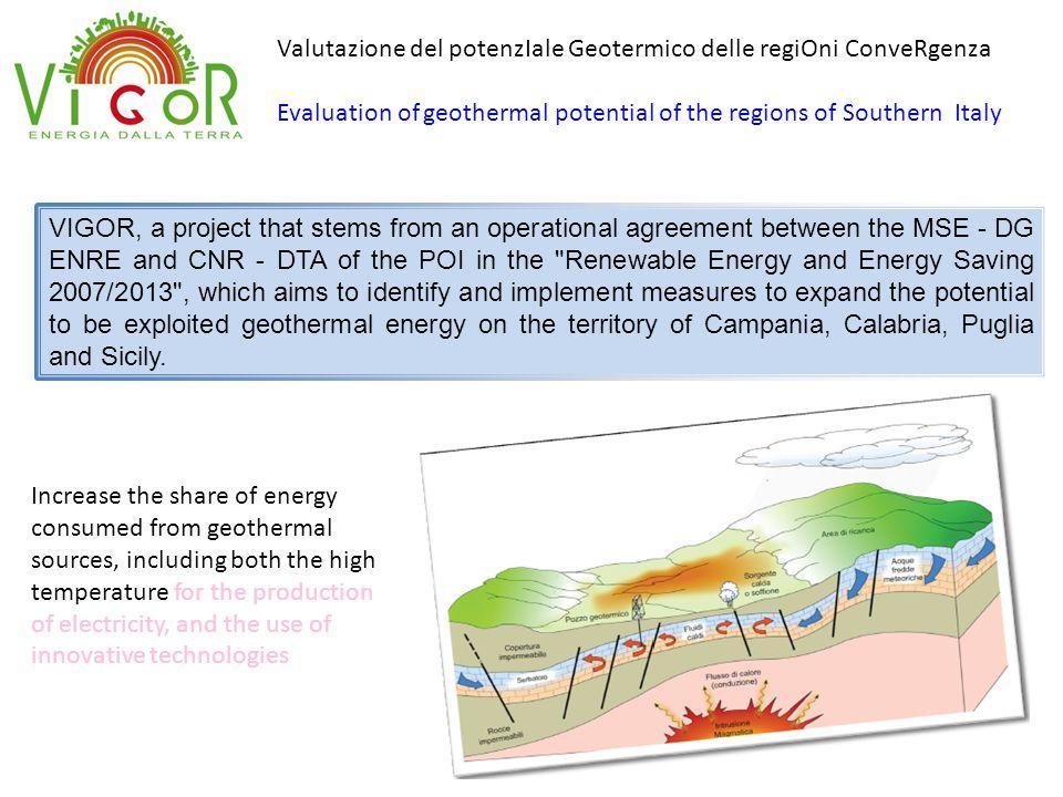 Valutazione del potenzIale Geotermico delle regiOni ConveRgenza