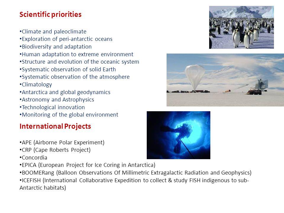 Scientific priorities