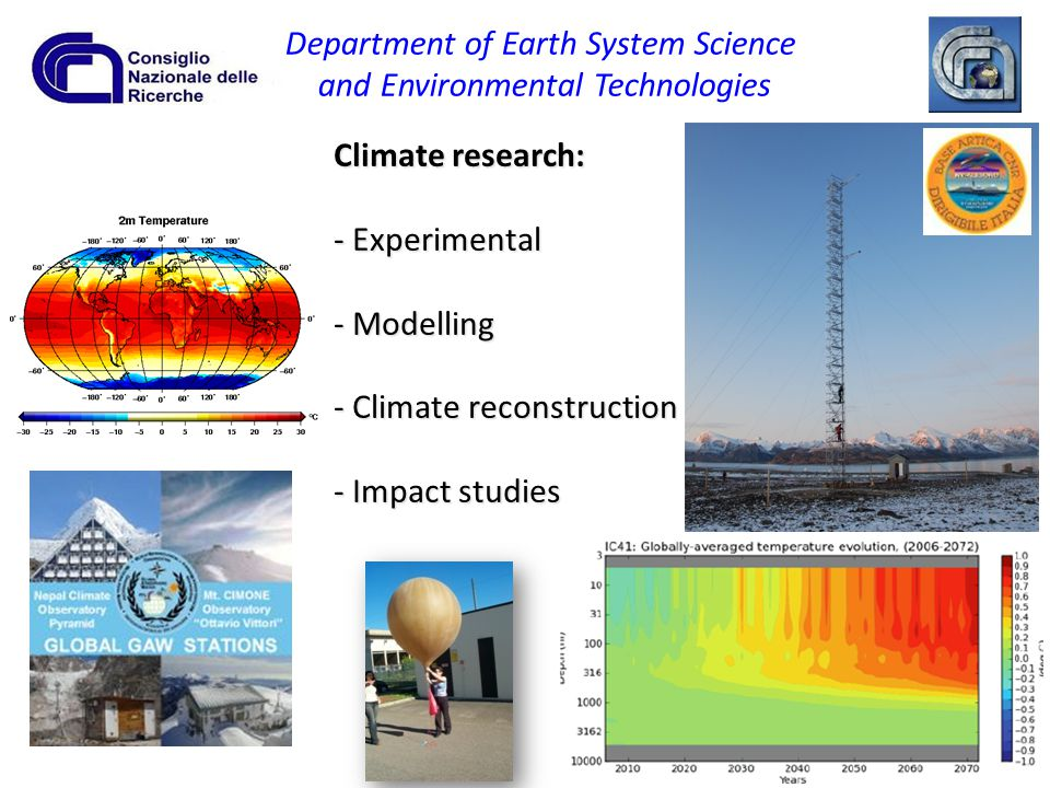 Department of Earth System Science and Environmental Technologies